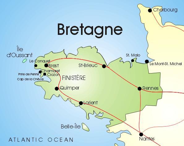 Landkarte Bretagne